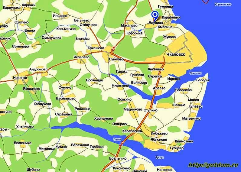 Ваулино на карте