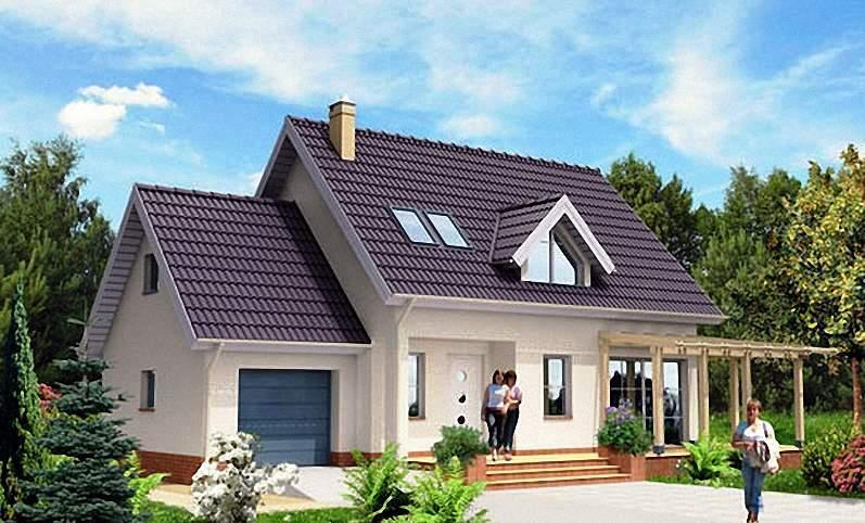 Дачный домик 7 на 7, одноэтажный финский проект под ключ
