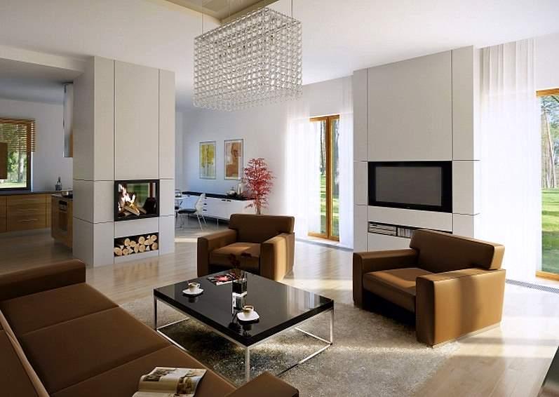 Интерьер одноэтажного дома