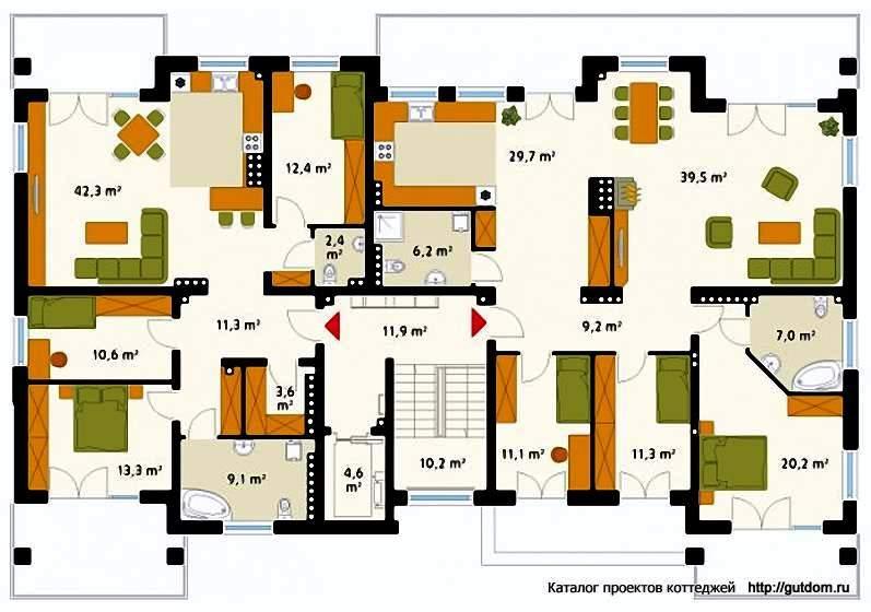 План четвертого этажа