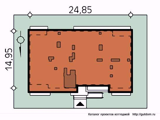 план участка с домом