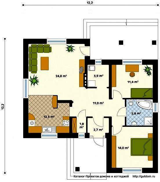 План дома с планировкой