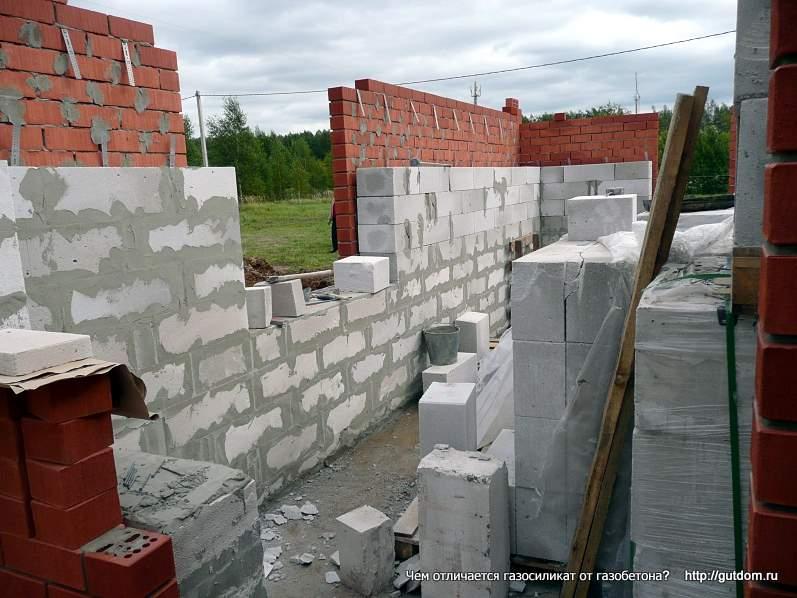 стены из газоблоков