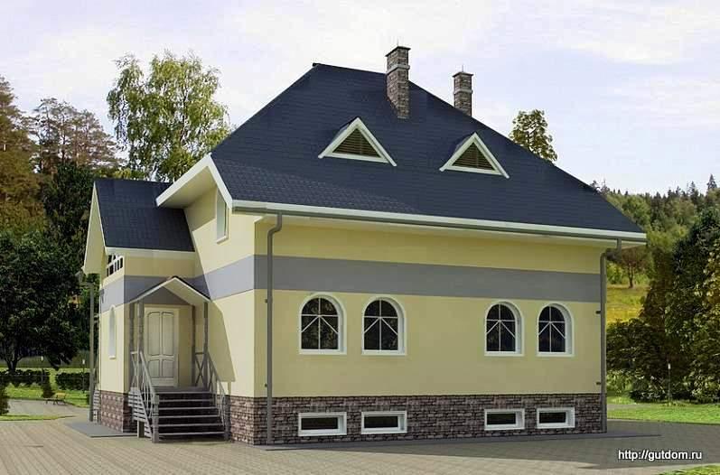 Коттедж двухэтажный из газоблоков