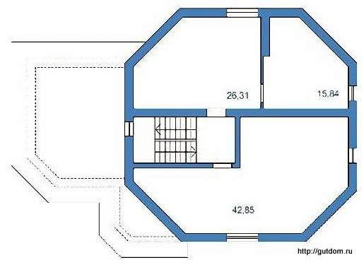 Планировка мансарды дома