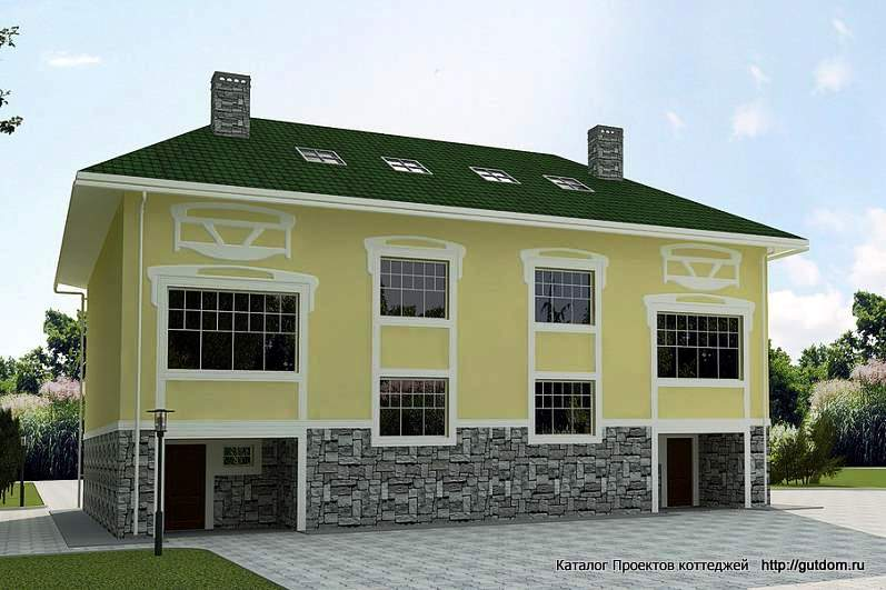 двухэтажный дом таунхаус