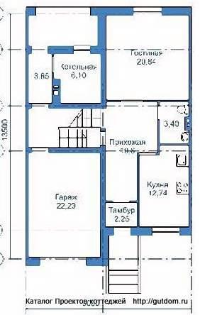 Дачный дом из бруса 4х6 с мансардой — проект, цена