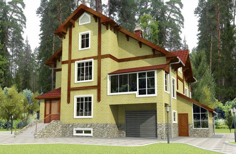 дом двухэтажный с гаражом