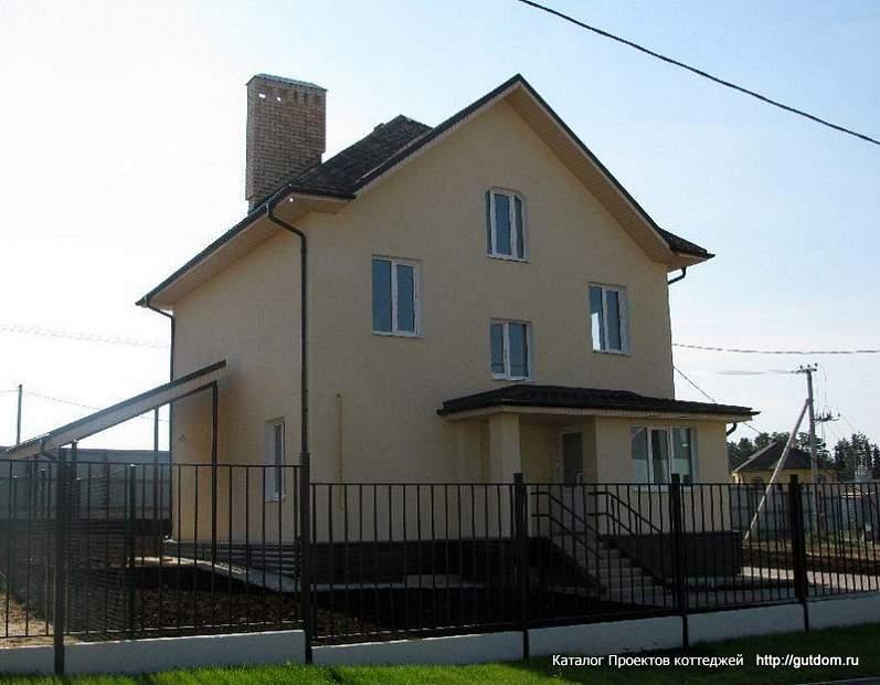 двухэтажный коттедж из газоблоков