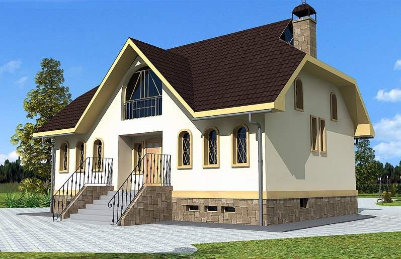 дом двухэтажный из газосиликата