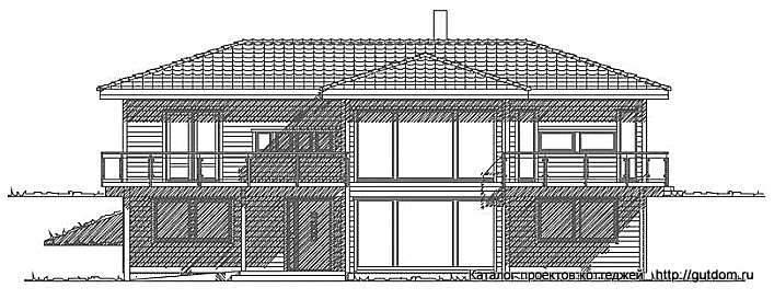 двухэтажный дом фасад