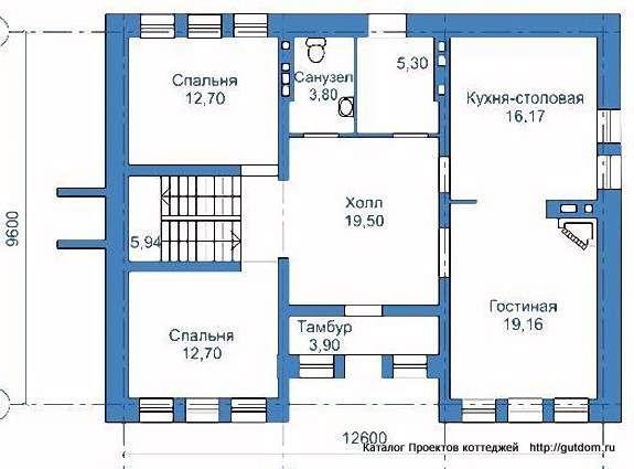 проекты двухэтажных домов фото с планировкой