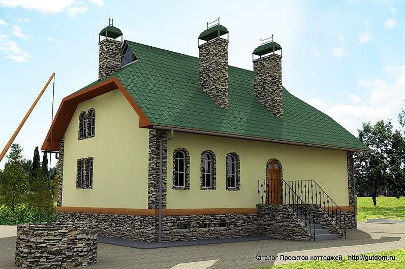 дом двухэтажный с сауной