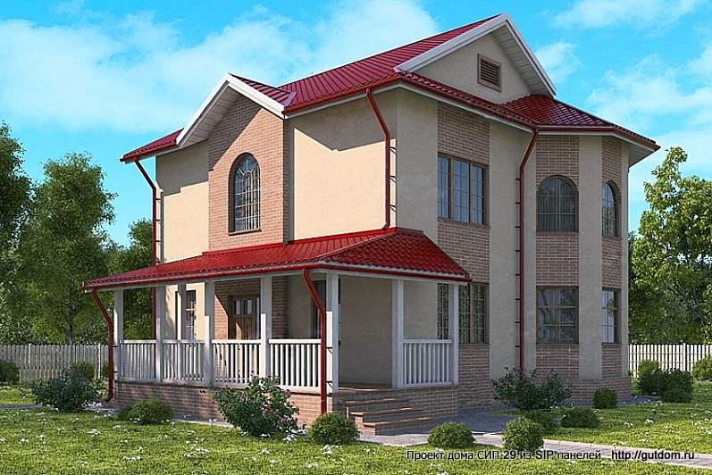 дом двухэтажный с верандой