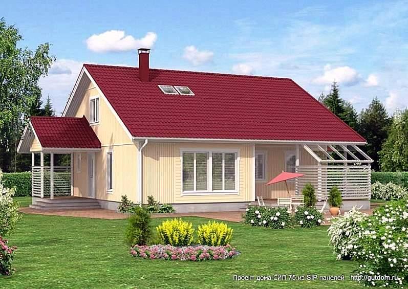 дом двухэтажный с террасами