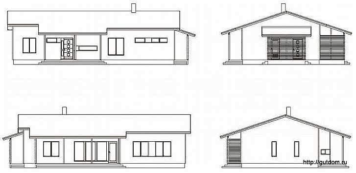 эскизы фасадов дома
