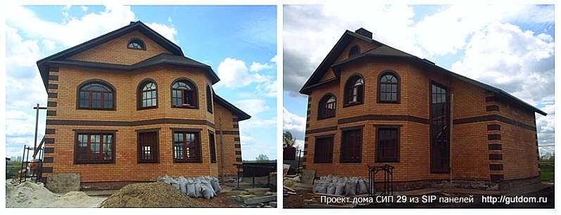 дом двухэтажный с витражом