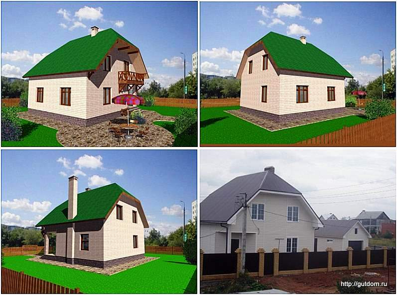 фасады каркасного дома