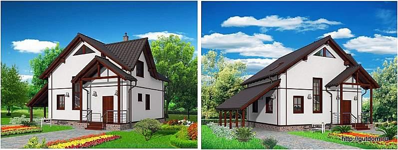 два эскиза фасадов