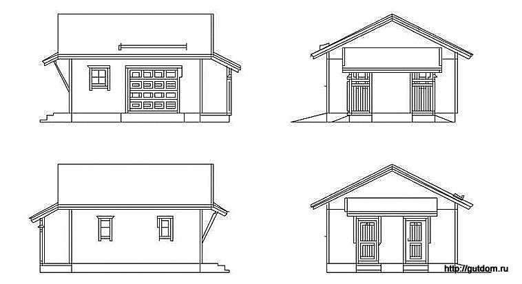 эскизы фасадов гаража