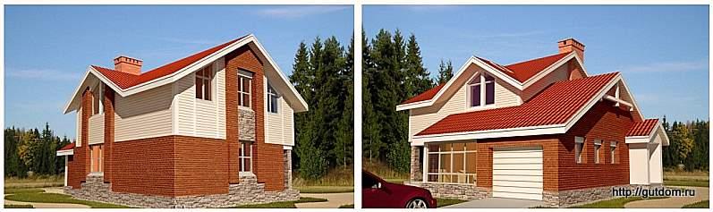 эскизы двухэтажного дома