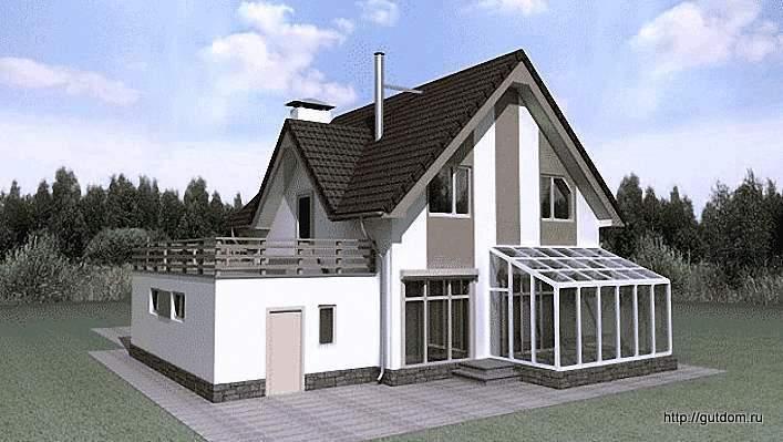 двухэтажный загородный коттедж