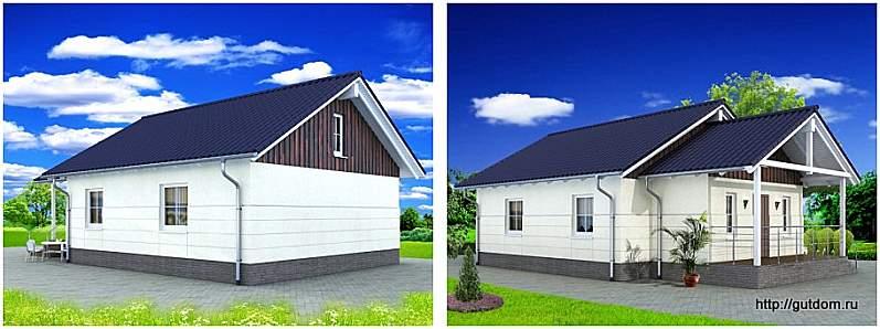 два эскиза дома