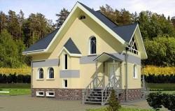 Дом двухэтажный с подвалом, Эскизный Проект ГБ16