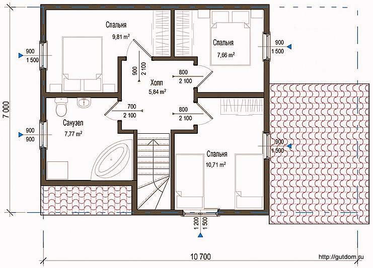 Планировка первого этажа дома, Проект СИП 127