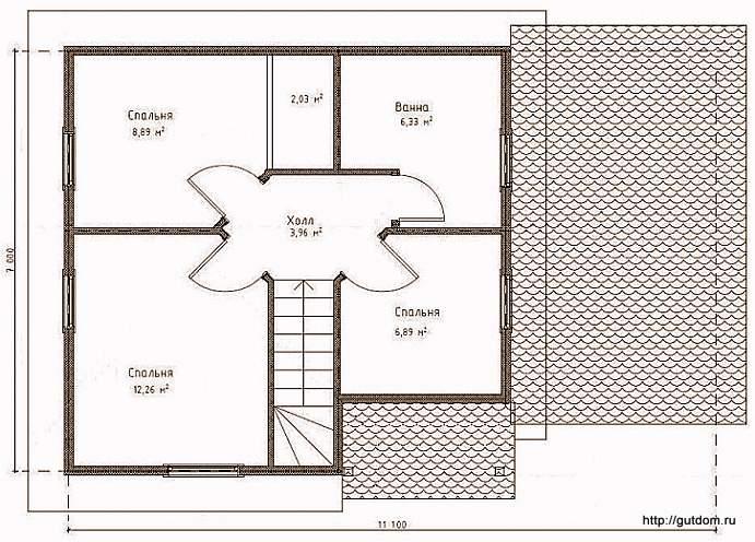План второго этажа, Проект СИП 123