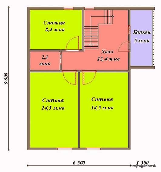 План мансарды к Проекту СИП 54