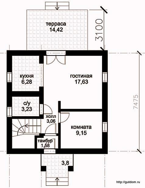 План первого этажа, Проект СИП 121