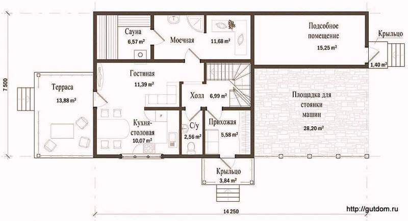 План первого этажа дома