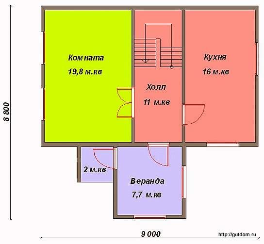 План первого этажа дома, Проект СИП 45