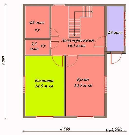 План первого этажа к Проекту СИП 54
