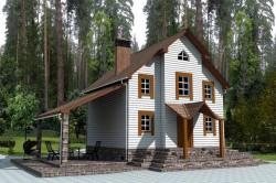Проект ГБ18 двухэтажного дома с подвалом, эскиз 1