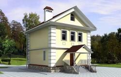 Проект ГБ23, небольшой двухэтажный дом, эскиз 1