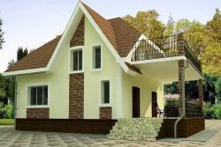 Проект ГБ27 двухэтажного дома, эскиз 1