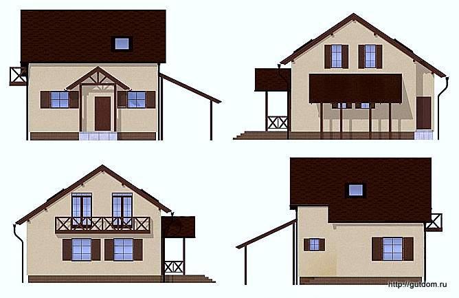 Проект СИП 135 эскизы фасадов