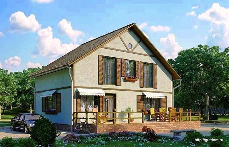 каркасный СИП дом