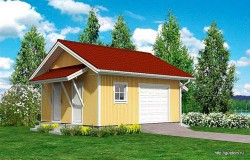 Проект гаража СИП Г3, 43 м2, эскиз