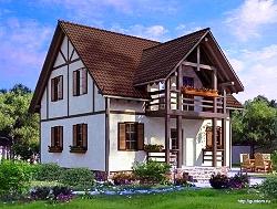 Проект двухэтажного дома СИП 106 площадью 118,9 м2, ум