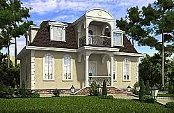 Проект двухэтажного дома СИП 107, ум