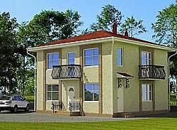 Проект двухэтажного дома СИП 108, ум