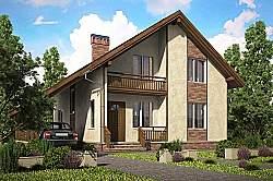 Проект двухэтажного дома СИП 110 ум
