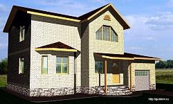 Проект двухэтажного дома СИП 12 ум