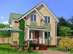 Проект двухэтажного дома СИП 122 площадью 95,8 м2