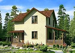 Проект двухэтажного дома СИП 127 площадью 116,15 м2 ум