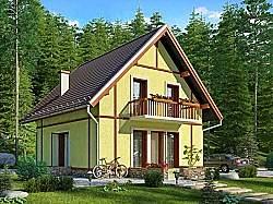 Проект двухэтажного дома СИП 128 площадью 120 м2, ум