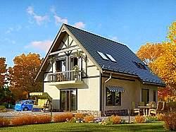 Проект двухэтажного дома СИП 129, ум